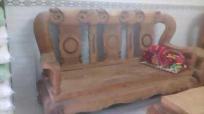 Bộ bàn ghế phòng khách 10 món gỗ đỏ Việt Nam