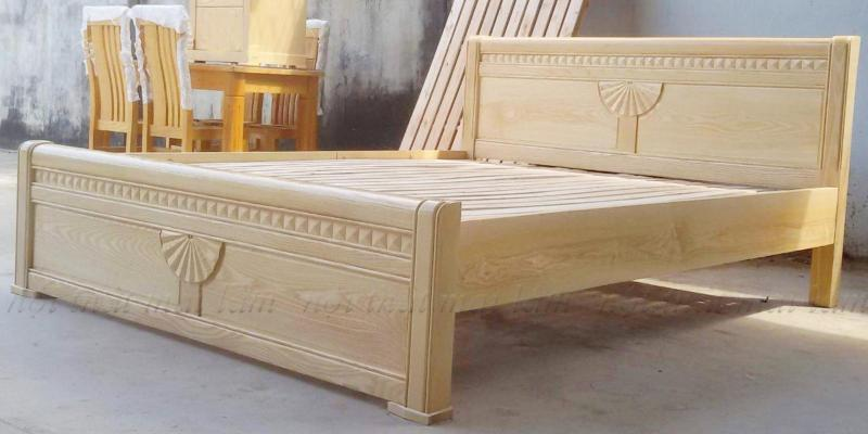 Giường ngủ gỗ Sồi Nga