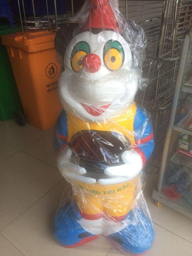 Thùng rác chuột mickey, thùng rác trường mầm non