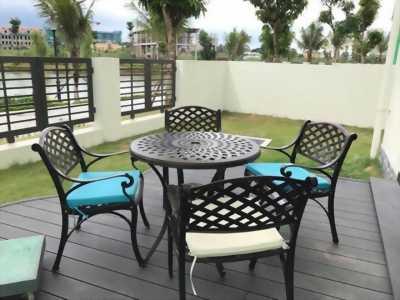 Bộ bàn ghế sân vườn nhôm