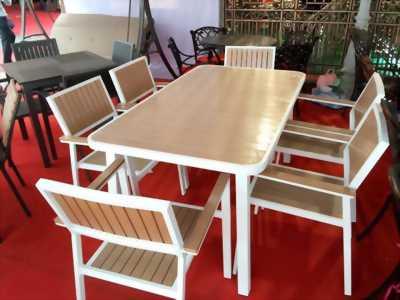Bộ bàn ghế sân vườn composite