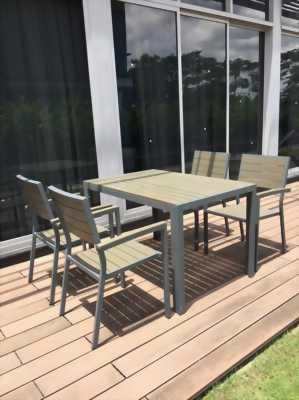 Bộ bàn ghế composite sân vườn BCA_06