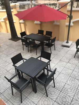 Bộ bàn ghế composite sân vườn BC_Đ04