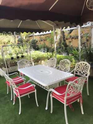 Bộ bàn ghế nhôm đúc sân vườn nhập khẩu