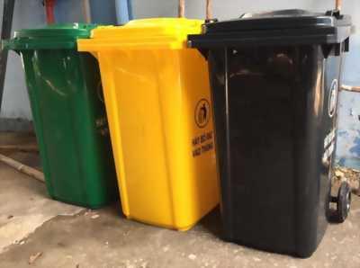 Thùng rác nhựa 240L phân loại rác thải công nghiệp lớn