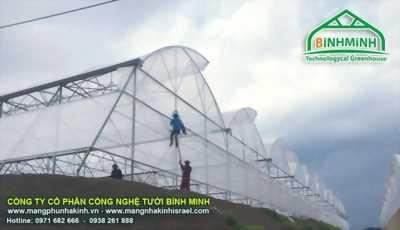Màng nhà kính Politiv Israel, nhà màng trồng dưa lưới,trồng dưa lưới trong nhà kính, mô hình trồng dưa lưới trong nhà màng