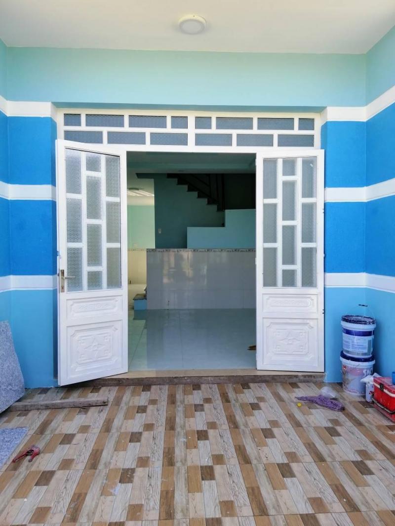 Bán nhà hẻm xe hơi Lộc Hậu, Mỹ Lộc, Cần Giuộc, nhà mới xây trệt, lầu, khu dân cư đông đúc
