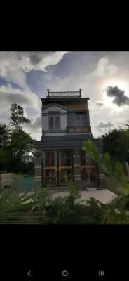 Bán nhà biệt thự hẻm xe hơi xã Phước Hậu, Cần Giuộc, Long An.