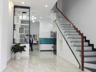 Bán nhà mới xây, sổ hồng 2018, DT 5x17, Mặt tiền Nguyễn văn bứa