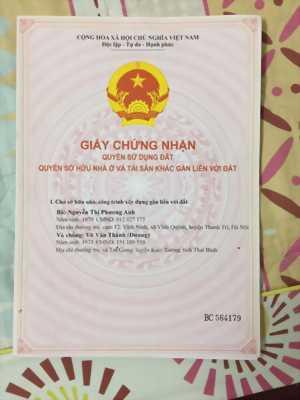 BÁN GẤP NHÀ MT.TP NHA TRANG - 01 THỐNG NHẤT