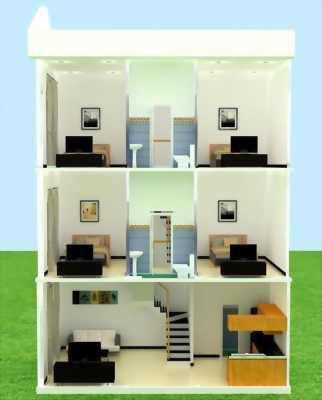 Cần bán nhà hẻm 274 xây 1 trệt 2 lầu 4 phòng ngủ 3wc