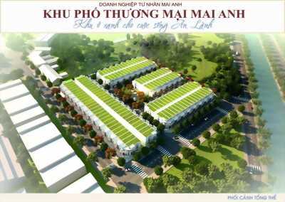 Nhà liền kề dự án thương mại Mai Anh trung tâm Trảng Bàng