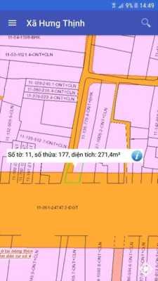 Đất hai mặt tiền đường quốc lộ 1k xã hưng thịnh trảng bom