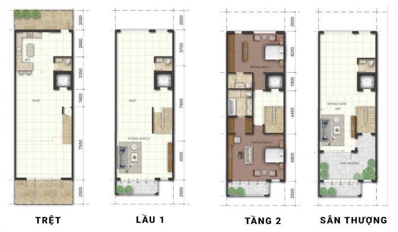 Nhà phố dự án City Gate 3, Quận 8, Dt 5x18m, 1 trệt 3 lầu, giá 8,8 tỷ(VAT)