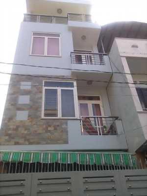 Bán nhà 1 trệt 2 lầu + sân thượng, hẻm 1 sẹc Hương Lộ 2