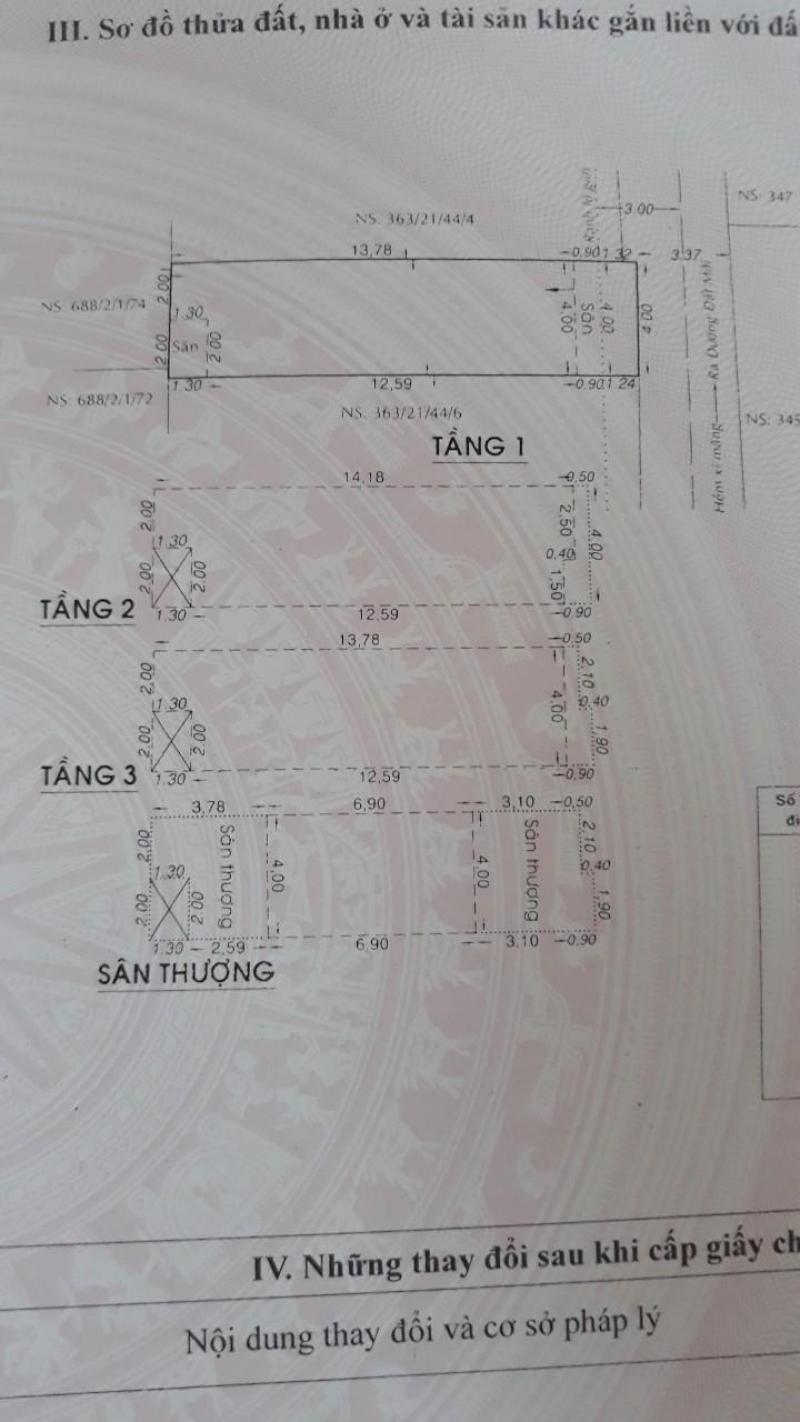 Bán nhà 4 tấm 363 Đất Mới Bình Tân, tặng nội thất cao cấp