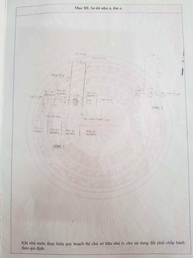 Bán nhà 1 tấm xây mới- giá: 2.45 tỷ đường Chiến Lược