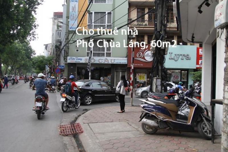 Cho thuê nhà Phố Chùa Láng, 60m2