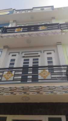 Bán gấp nhà mới 1 triệt 2 lầu đường Dương Thị Mười gần bệnh viện quận