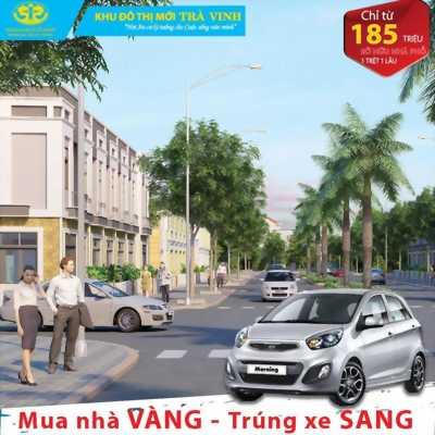 Bán nhà phố ở khu đô thị mới Trà Vinh, rinh xe kia morning