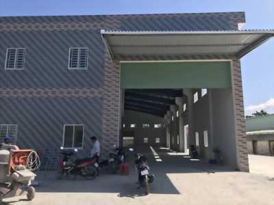 Cho thuê kho xưởng mặt tiền đường Nguyễn Hữu Trí thuộc địa phận Tân Bữu - Mỹ Yên, Bến Lức, Long An.