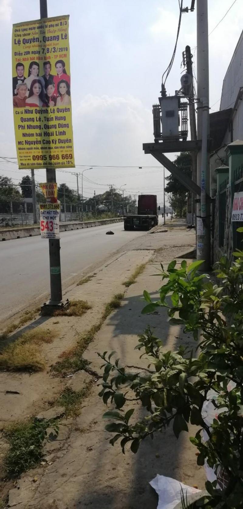 Nhà xưởng 1.000m2 mặt tiền đường Nguyễn Hữu Trí, Huyện Bình Chánh. Giá 55tr/th