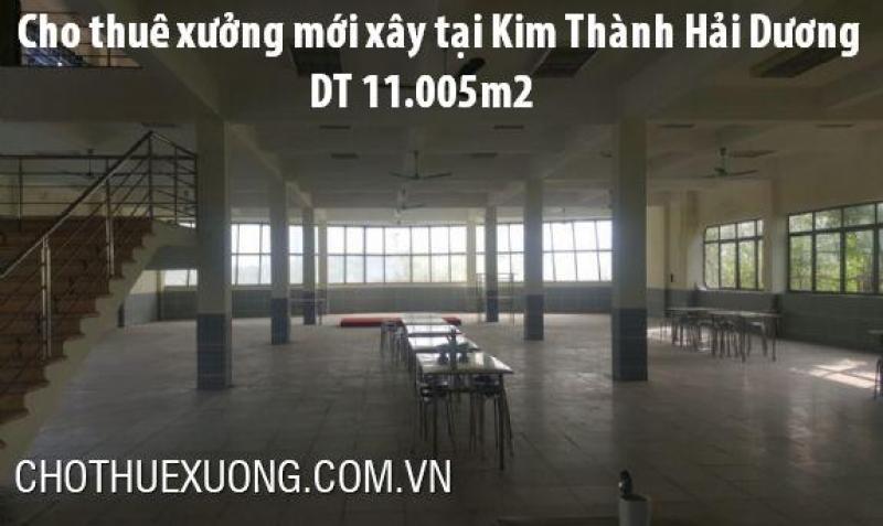 Cho thuê kho xưởng tiêu chuẩn tại Kim Thành Hải Dương DT 10005m2