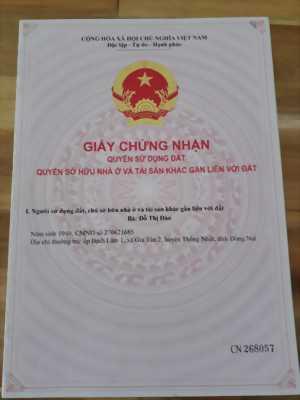 Đất cần bán gần trường Kiệm Tân, Đồng Nai
