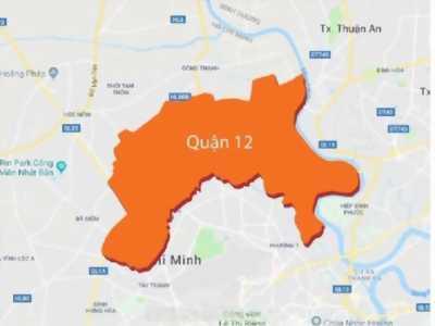 Bán đất thổ 1250m2 MT QL1A Quận 12