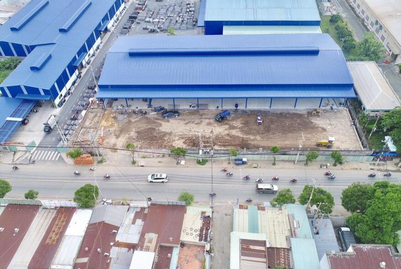 Kho xưởng mới xây, mặt tiền Lê Văn Khương, Quận 12. DTKV: 4.000m² (DT xưởng 2.200m²)