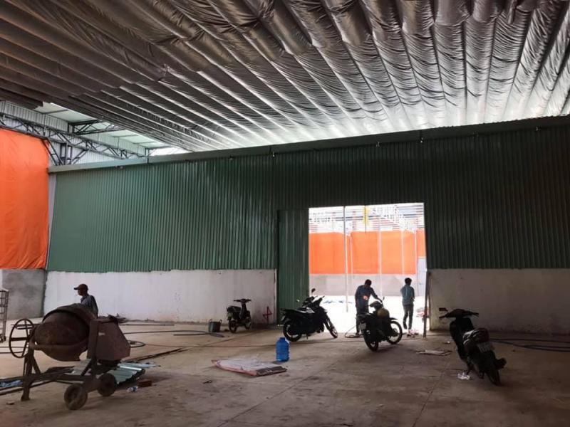 Cho thuê kho 1.050m2 (100.000đ/m2) mặt tiền 520, P. Bình Long, Quận Tân Phú.