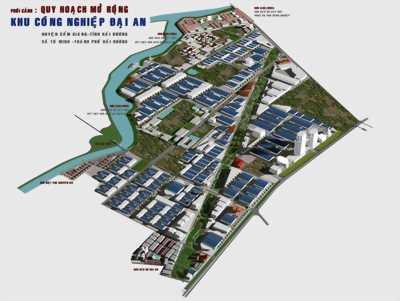 Bán kho xưởng công nghiệp Đại An, Hải Dương quy mô từ 1ha đến 30 ha