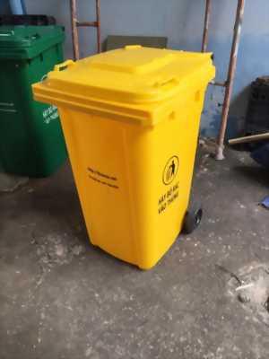 Thùng rác 240L màu vàng, thùng rác công cộng