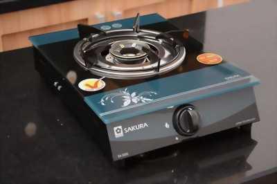 Bộ bếp gas đơn sakura kính& bình gas.