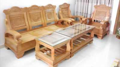 Cần bán lại bộ bàn ghế gỗ tự nhiên