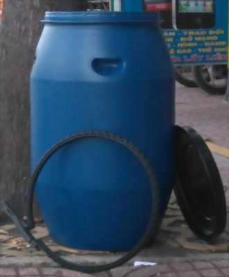 Thùng phuy nhựa 100L mới, thùng phuy đựng gạo, đựng nước