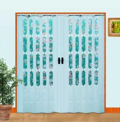 Cửa xếp nhựa đôi rất thích hợp để làm cửa thông phòng