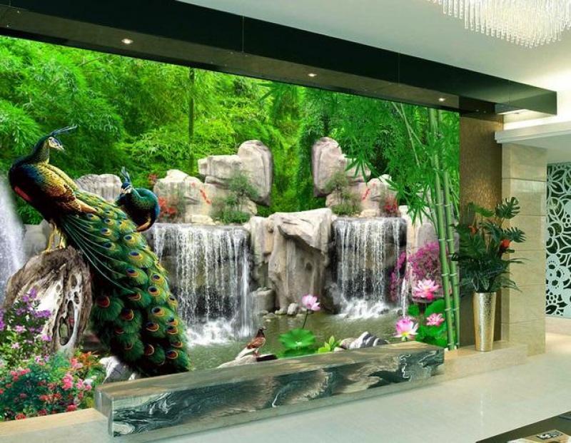 Tranh gạch men 3D- Gạch tranh ốp tường phòng khách