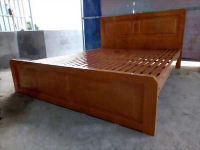 Giường sắt hộp giả gỗ 1m6x2m mới 100%