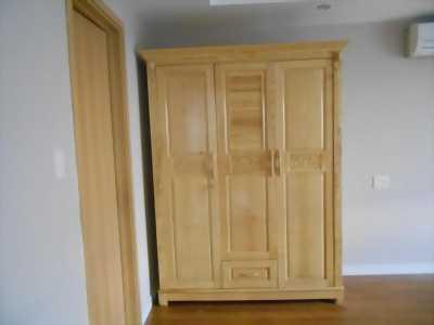 Tủ áo gỗ sồi nguyên tấm 3 buồng