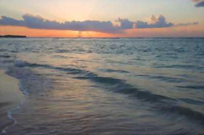 Tranh dán tường phong cảnh hoàng hôn trên biển