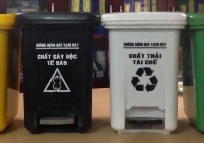 Thùng rác nhựa 10L có đạp chân - thùng rác y tế giá rẻ