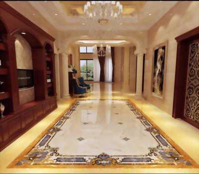 thảm gạch phòng khách khổ lớn