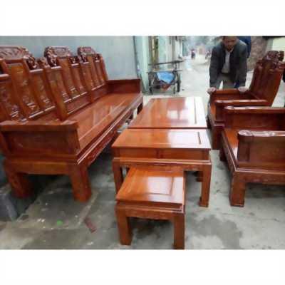 Bộ bàn ghế kiểu Âu Á hộp Như Ý Voi, tay đặc gỗ hương vân