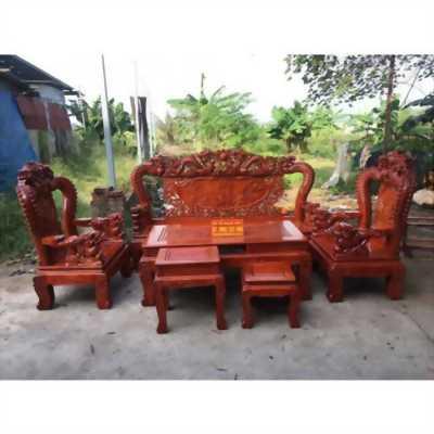 Bàn ghế phòng khách rồng đỉnh bát tiên gỗ hương đỏ Nam Phi
