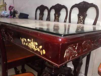 Bộ bàn ghế gỗ xưa