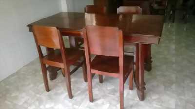 Thanh lý bộ bàn ghế gỗ xưa phòng khách giá rẻ