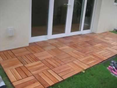 Cung cấp ván sàn gỗ vĩ nhựa ngoài trời bằng gỗ tự nhiên Tràm Bông Vàng