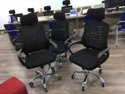 Thanh lý 300 chiếc ghế xoay lưới gối đầu giá siêu rẻ