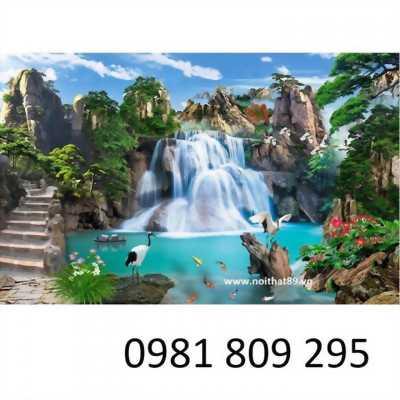 tranh 3d phong cảnh sông nước